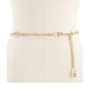 Michael Kors Hamilton Lock &Key belt